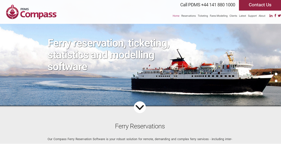 PDMS' industry leading ferry software solutions website goes